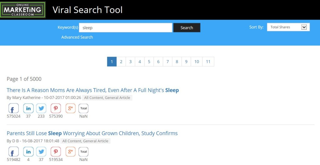 Viral Search Tool