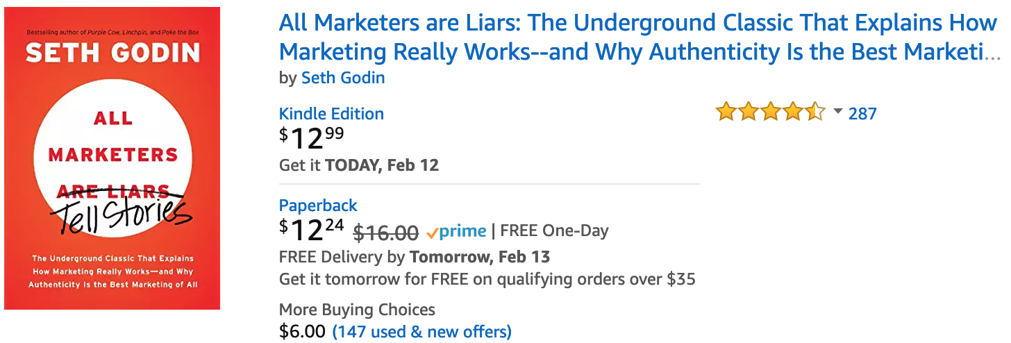 All Marketers Are Liers