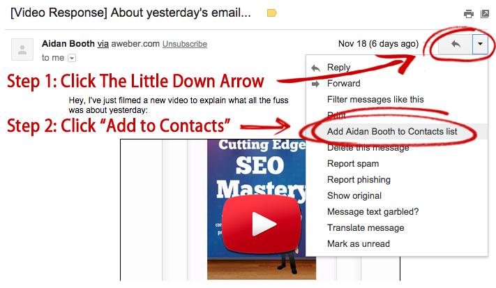 Gmail-Whitelist